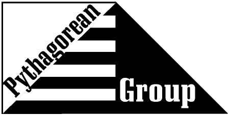 We took a concept suggested by the company owner. Pythagorean Group Design - Copyright 1999, Shelmer House